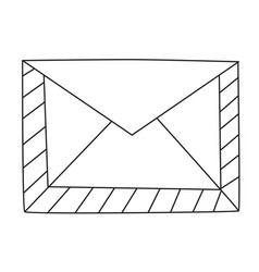 cartoon image of envelope icon mail symbol vector image