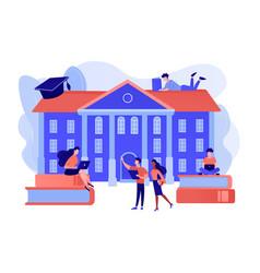 College campus concept vector