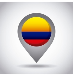 colombia flag pin vector image