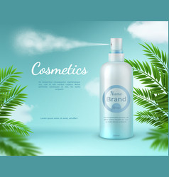 cosmetic spray banner natural skincare product vector image