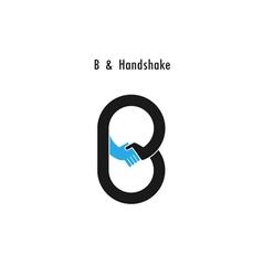 Creative b - letter icon vector