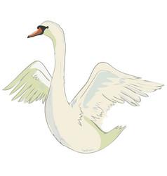 cute lovely princess swan vector image