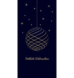 Delicate german christmas background vector