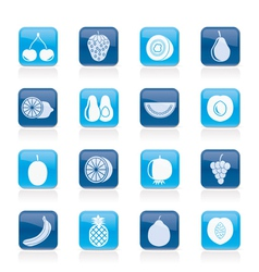 Different kind of fruit and icons vector image