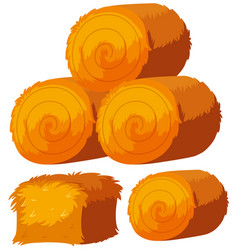 Different shapes of haystacks vector