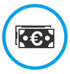 Euro banknotes rounded icon vector
