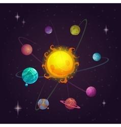 Fantasy solar system vector
