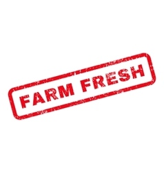Farm Fresh Text Rubber Stamp vector