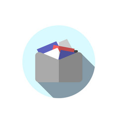 Flat icon folder with documents folder with vector