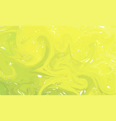 fluid colorful shapes background green and yellow vector image