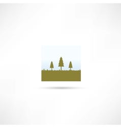 Forest eco icon vector