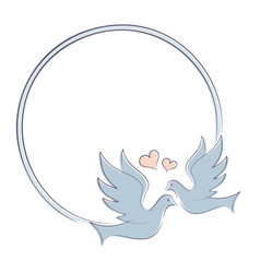 Frame with doves vector