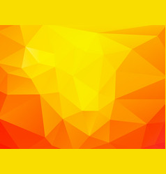geometric orange background vector image
