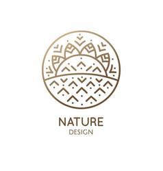 Geometrical nature logo vector