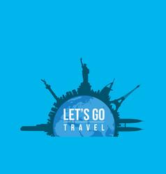 Go travel to world concept vector