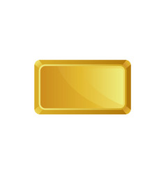Gold bar top view banking business prosperity vector