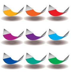 Hammocks Rainbow vector