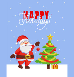 happy holidays and merry christmas 2019 poster vector image