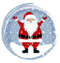 happy santa in snow vector image