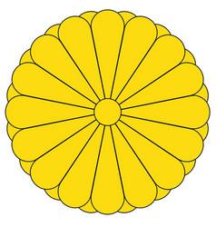 Imperial seal japan vector