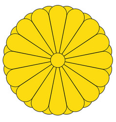 Imperial seal of japan vector