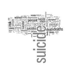 In harms way suicide in america vector