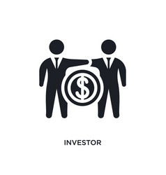 Investor isolated icon simple element from vector