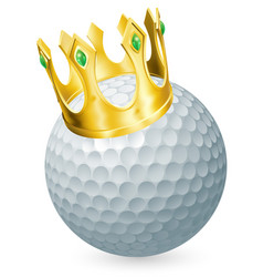 King of golf vector