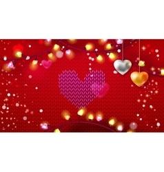 Knitting Valentine banner vector