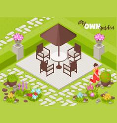 Landscape design background vector