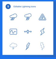 Lightning icons vector