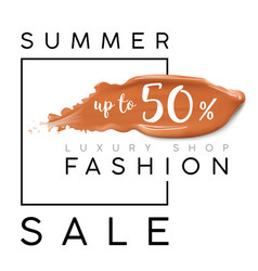 luxury summer fashion sale banner for sales vector image