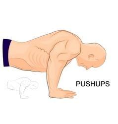 Man performing push-UPS vector