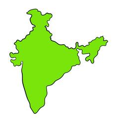 map india icon cartoon vector image