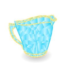 Milk jug polygons part of porcelain vector