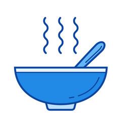 miso soup line icon vector image