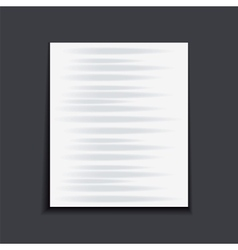 Paper sheet on the dark background vector image