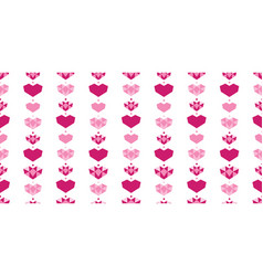 pink white geometric hearts seamless pattern vector image