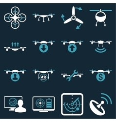 Quadcopter service icon set vector
