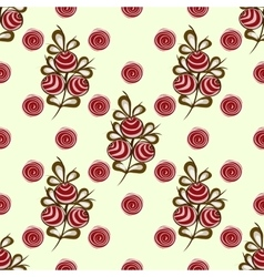 Red berries on the branches seamless pattern vector image
