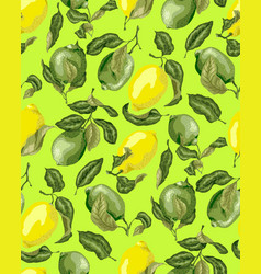 Seamless pattern with juicy citrus limes and vector