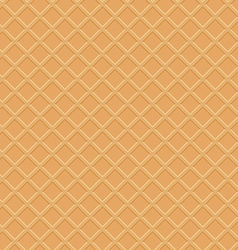 Seamless waffle texture vector image