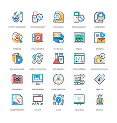 Seo and marketing icons 12 vector