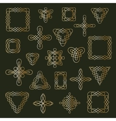 Set of different ethnic signs and frames vector
