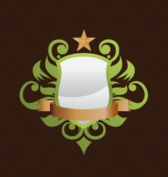 shield-decorative vector image