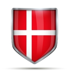 Shield with flag Denmark vector