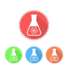 Simple icons of conical flask vector image