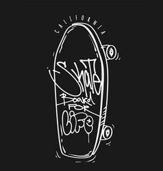 skate board for life print t-shirt graphics vector image