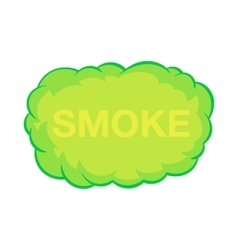 Smoke cloud icon in cartoon style vector image