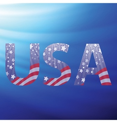 Usa capital letters vector